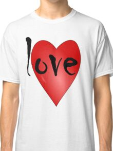 Love Symbol Red Heart with Letters 'LOVE' Classic T-Shirt