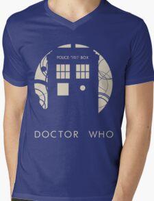 Doctor Who Poster Mens V-Neck T-Shirt