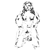 Female figure sketch 09012013 Photographic Print