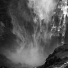 Lower Yosemite Falls in Close Up by Barbara Burkhardt