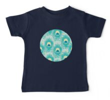 Peacock feathers pattern Baby Tee
