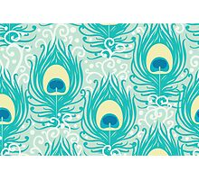 Peacock feathers pattern Photographic Print