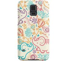 Elephants with bouquets pattern Samsung Galaxy Case/Skin