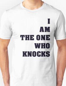 Breaking Bad I Am The One Who Knocks Black Text Unisex T-Shirt