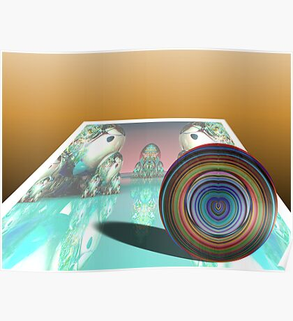 Paperweight on Faded Image - The Way We Were Poster
