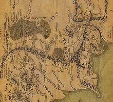 Map of Middle Earth by Crystal Friedman