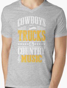 Cowboys, trucks & country music Mens V-Neck T-Shirt