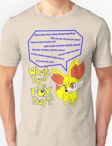 What Does Fennekin Say? Unisex T-Shirt