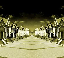Southwold Huts Reflected by Rob Hawkins