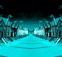 Blue Huts  by Rob Hawkins