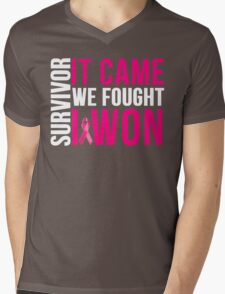 Breast Cancer Survivor I WON Mens V-Neck T-Shirt