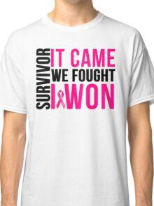 Breast Cancer Survivor I WON Classic T-Shirt