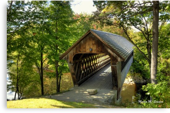 Henniker Covered Bridge by Monica M. Scanlan