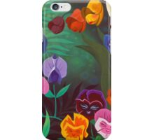 Singing With the flowers iPhone Case/Skin