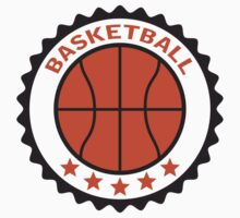 Basketball Stamp Logo Design by Style-O-Mat