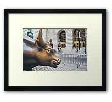 The Charging Bull Framed Print