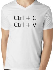 Ctrl-C Ctrl-V Mens V-Neck T-Shirt