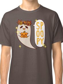 Cute Spoopy Ghost (Color Version) Classic T-Shirt