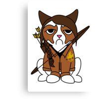 Grumpy Katniss Canvas Print