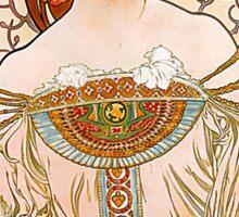 Mucha – Flower Girl Sticker