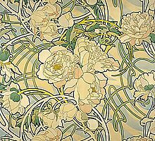Mucha – Flowers by William Martin