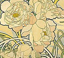 Mucha – Flowers Sticker