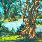 small pond with trees by Ashley Peppenger