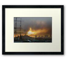 Sunrise Fury Framed Print