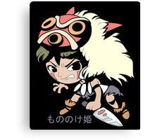 Princess Mononoke Hime (Chibi), Anime Canvas Print