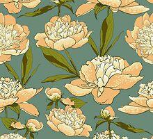floral background with peonies  by OlgaBerlet