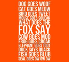 What Does The Fox Say by Alan Craker