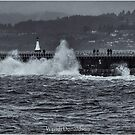 Storm on the Breakwater by Wendi Donaldson Laird
