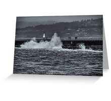 Storm on the Breakwater Greeting Card
