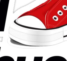 I Heart Chucks Sticker