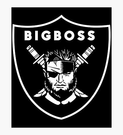 Raiders x Metal Gear Solid - Big Boss (Raiders) Photographic Print