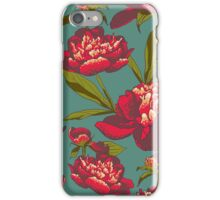 floral background with peonies  iPhone Case/Skin
