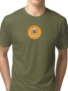 Orange Robot Tri-blend T-Shirt