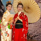 Japanese Girls in Melbourne by Bev Pascoe
