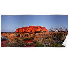 Uluru at twilight Poster
