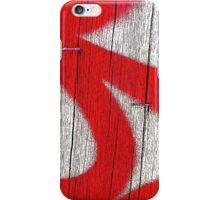 graffiti on a powerpole iPhone Case/Skin