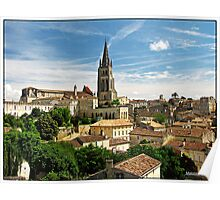 """""""Across the rooftops of St Emilion"""" Poster"""