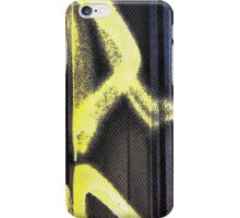 graffiti on a fence iPhone Case/Skin