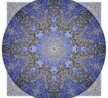 Lapis Lazuli Throat Chakra Mandala by haymelter