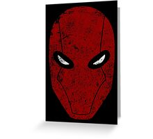 Red Hood Mask  Greeting Card
