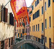 Flag In Venice by Adrian Alford Photography