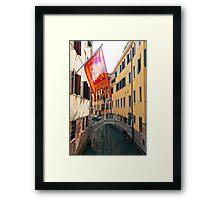 Flag In Venice Framed Print