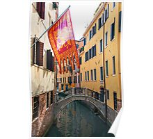 Flag In Venice Poster