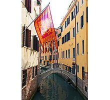 Flag In Venice Photographic Print