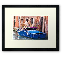 Venice Delivery Framed Print
