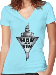 MAN OF TIN Women's Fitted V-Neck T-Shirt